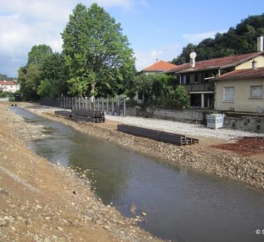 Les travaux de protection contre les inondations se poursuivent à Sainte Foy-lès-Lyon et Oullins