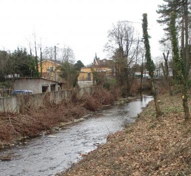 Préparation des travaux de protection contre les inondations à Sainte Foy-lès-Lyon